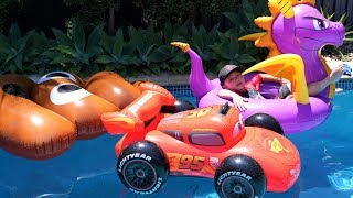 Poo Emoji Disney Cars Spyro Pool Fun Playtime With Ckn Toys