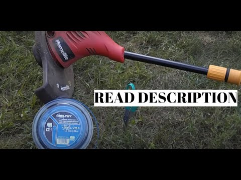 "How To Replace Homelite Weed Eater String | 13"" Dual Sided Spool Technique 