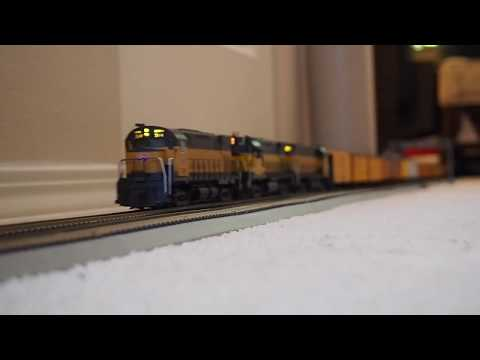 Wabash And SP&S Freights In HO Scale