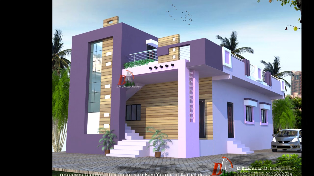 Ground Floor Plan And Elevation Modern House - Modern House