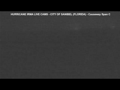 Hurricane Irma Cam - City of Sanibel (Florida) - Causeway at night