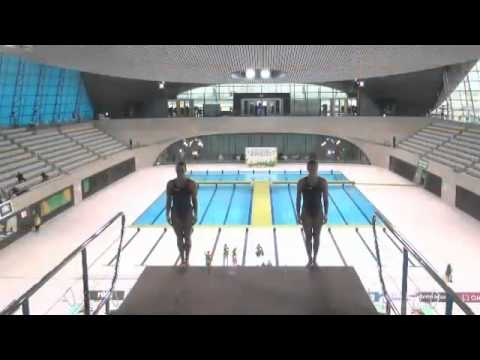 2014 Jessica Parratto & Cheyenne Cousineau 401b - 7.5s 8s Diving Series London