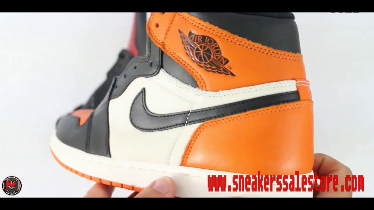 Sneakerssalestore 2017 Cheap Air Jordan 1 Retro Black   Red Shoes Review f09a62163