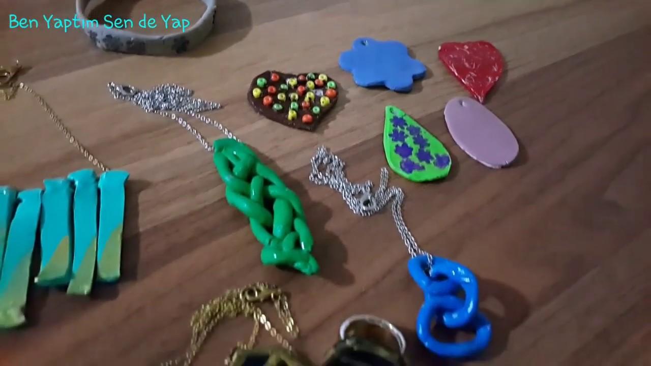 Seramik hamurdan kolye yapımı /ceramic dough pendant making
