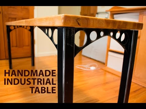 Industrial Wood & Steel Side Table