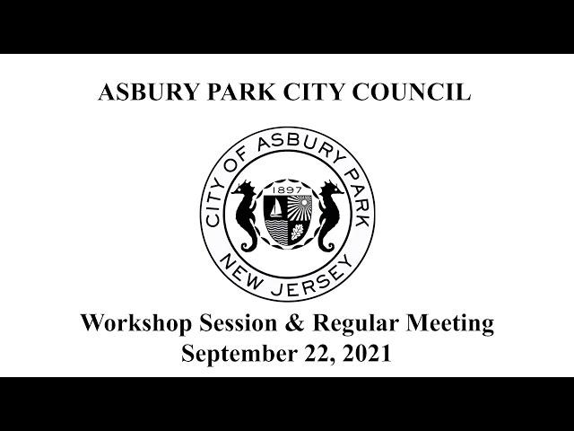 Asbury Park City Council Meeting - September 22, 2021