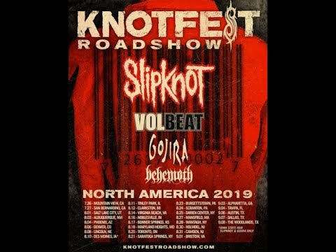 Slipknot officially announce 'Knotfest Roadshow' w/ Volbeat, Gojira and Behemoth...!