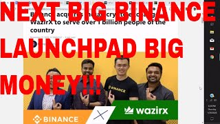 Wazirx Exchange Binance Launchpad WRX Token Coin 100K Bounty Program Airdrop