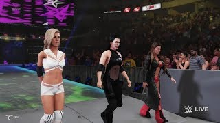 WWE 2K19 - Vince's Devils VS Charlotte Flair, Carmella, and Asuka