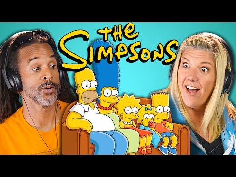 Thumbnail: ADULTS REACT TO THE SIMPSONS (30th Anniversary)