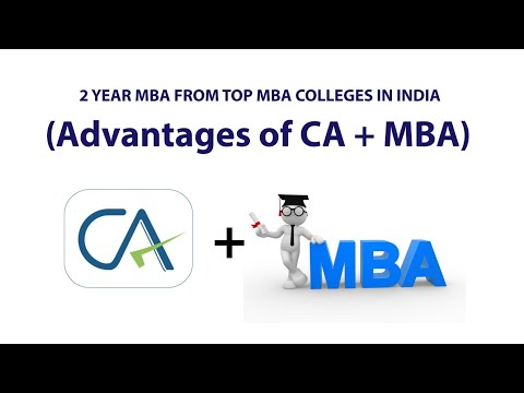 2 year MBA from Top MBA Colleges in India | Placement Data | Advantages of  CA+MBA