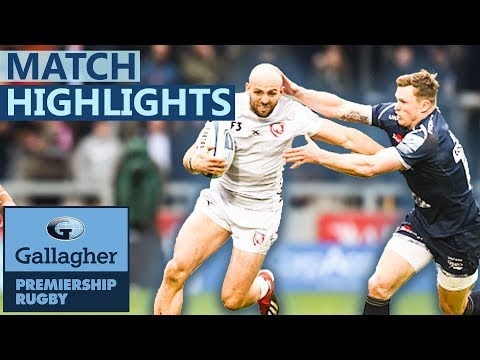 Sale 46-41 Gloucester | Frantic First Half Sees 8-Tries | Gallagher Premiership - Highlights