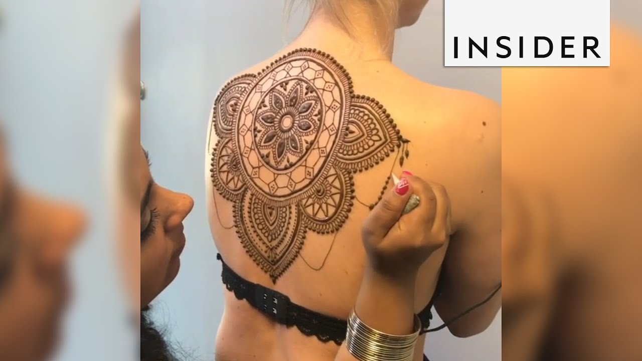 Henna Artist Uses The Human Body As A Canvas For Incredibly Detailed Designs Youtube