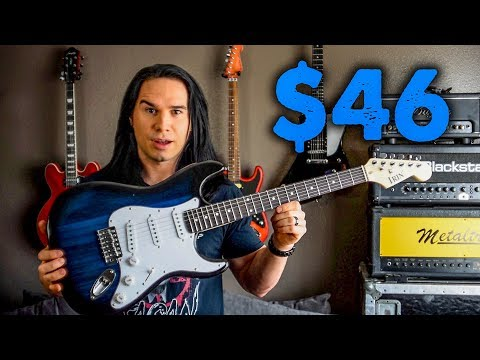 You Can STILL Buy A Guitar For Less Than 50 Dollars! - Ebay Strat Demo Review