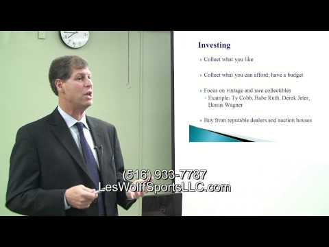 Sports Collectibles Part 10 of 10 How to Invest in Sports memorabilia by Les Wolff Sports LLC