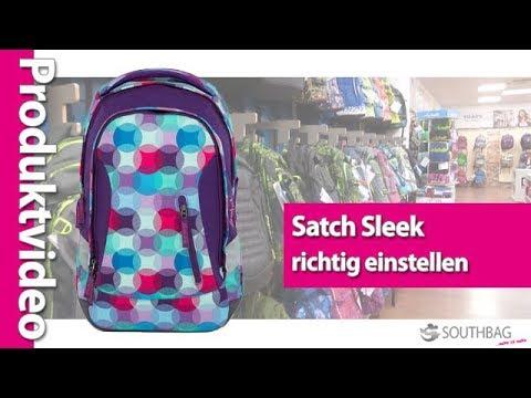 84e9dd4c585ad Satch Schulrucksack Sleek - richtig am Rücken einstellen - YouTube