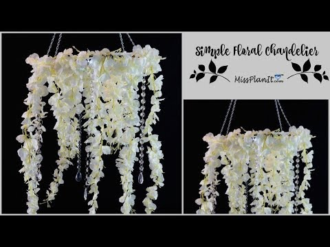 DIY Simple Floral Chandelier | DIY Budget  Wedding Decor | DIY Tutorial