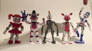 FNAF Funko Wave 3 Action Figure Review Ballora, Funtime Foxy and Freddy, Circus Baby, Ennard