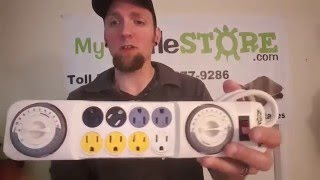 ZILLA 24/7 DUAL ANALOG TIMER POWER CENTER REVIEW