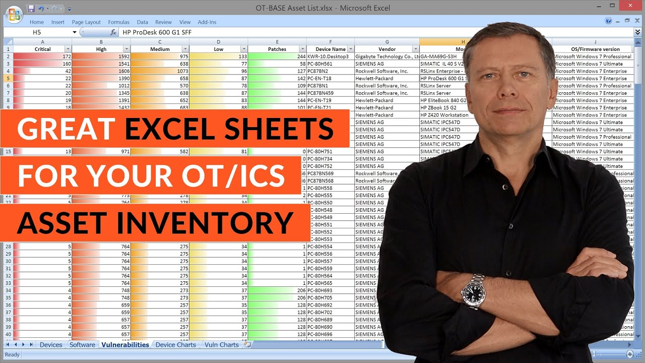Create Great Excel Sheets For Your Ot Ics Asset Inventory Automatically Youtube