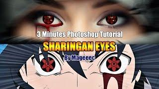 sharingan Eyes Photoshop CC 3 Minutes Tutorial