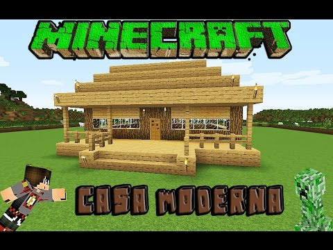 Minecraft casa moderna de madera facil tutorial 1 8 1 for Casa moderna minecraft 0 12 1