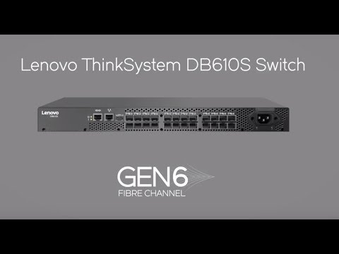 Lenovo ThinkSystem DB610S SAN Switch:  Product Video