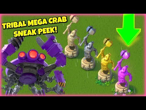 SNEAK PEEK! Tribal Mega Crab :: New Warrior Trophies & Troop Bonuses! :: Boom Beach