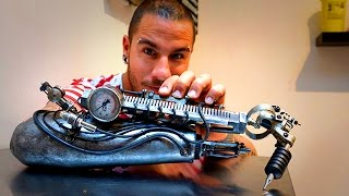 Titan Trending Crazy Tattoo Prosthetic Arm JC Sheitan Tenet a tattoo artist from Lyon France has the most amazing prosthetic arm He lost his right arm as a