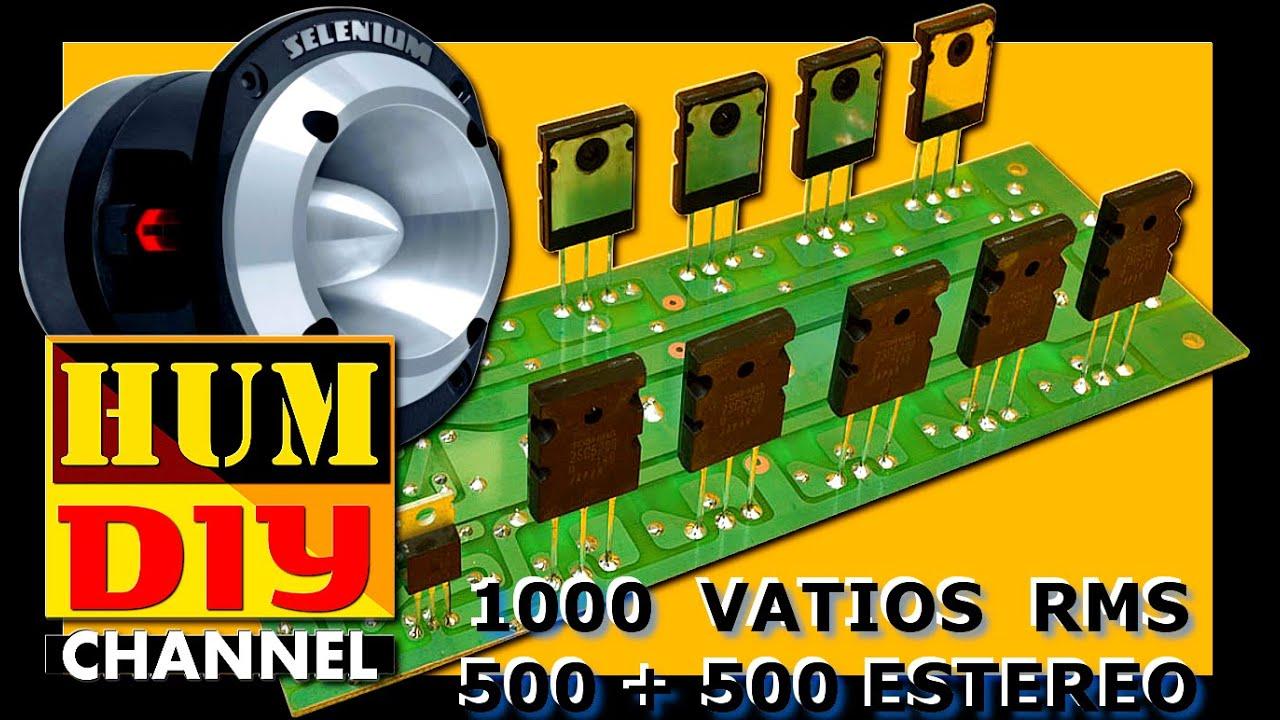 Circuito De Amplificador De Audio De 1000w Pdf : Como hacer un amplificador de audio w