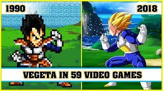 VEGETA, the evolution in video games [1990 - 2018]