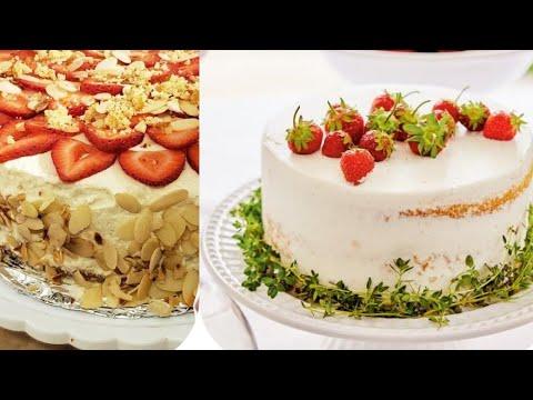 vertical-layer-cake-recipe-|-gateau-moelleux-au-fraise-|-layer-cake-caramel