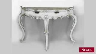 Antique Pair Of Italian Rococo Style Silver Gilt And White