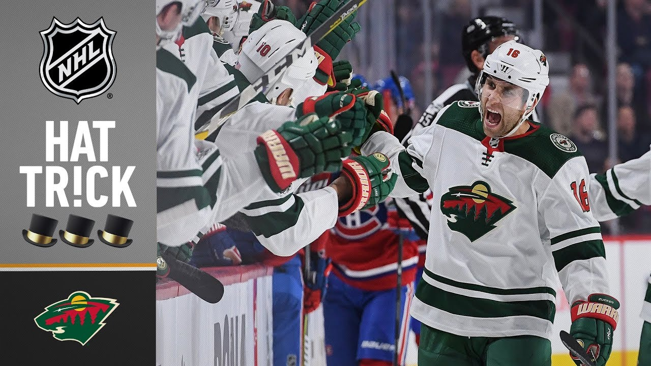 Jason Zucker Records His First Career Hat Trick Youtube