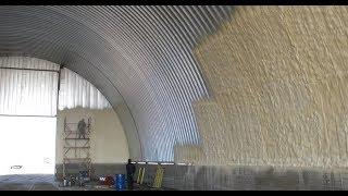 видео Утепление складов пенополиуретаном