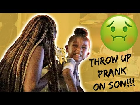 """""""THROW UP"""" PRANK ON SON TAKES A TURN (VERY EMOTIONAL!!!) 