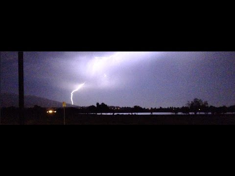 Impressive lightning show over Fremont seen from Lake Elizabeth.