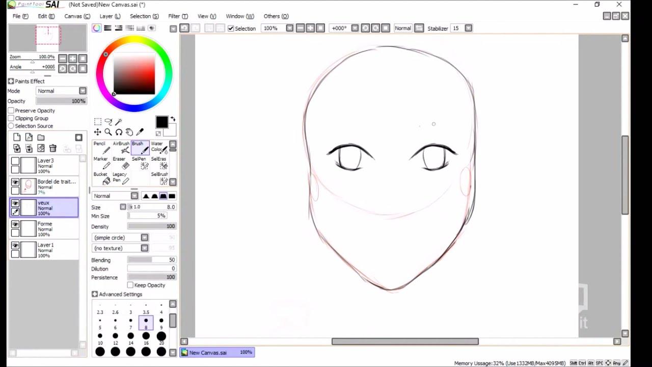 Tuto 2 comment dessiner un visage manga tape par tape rebirth youtube - Dessiner un manga ...