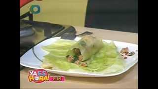 RoLLitos de CoL con Carne Molida ☆ Con el Chef & Sommelier Marco Toledo