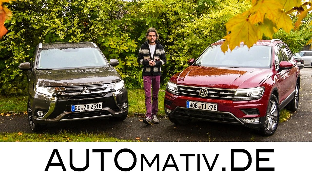 vw tiguan 2017 und mitsubishi outlander phev plug in. Black Bedroom Furniture Sets. Home Design Ideas