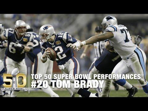 #20: Tom Brady SB XXXVIII Highlights | Panthers vs  Patriots | Top 50 Super Bowl Performances