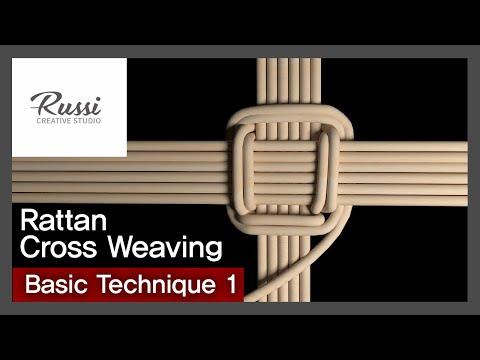 라탄 기초 + (십자)바닥 엮기 [라탄공예] 취미 수업 온라인클래스1. :Rattan Craft : cross weaving basic technique,3D ,라탄 기법