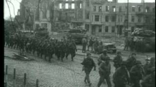 WWII Dramatic footage of River Crossing, 29th Crosses Roer, Germany, 1945, Jülich