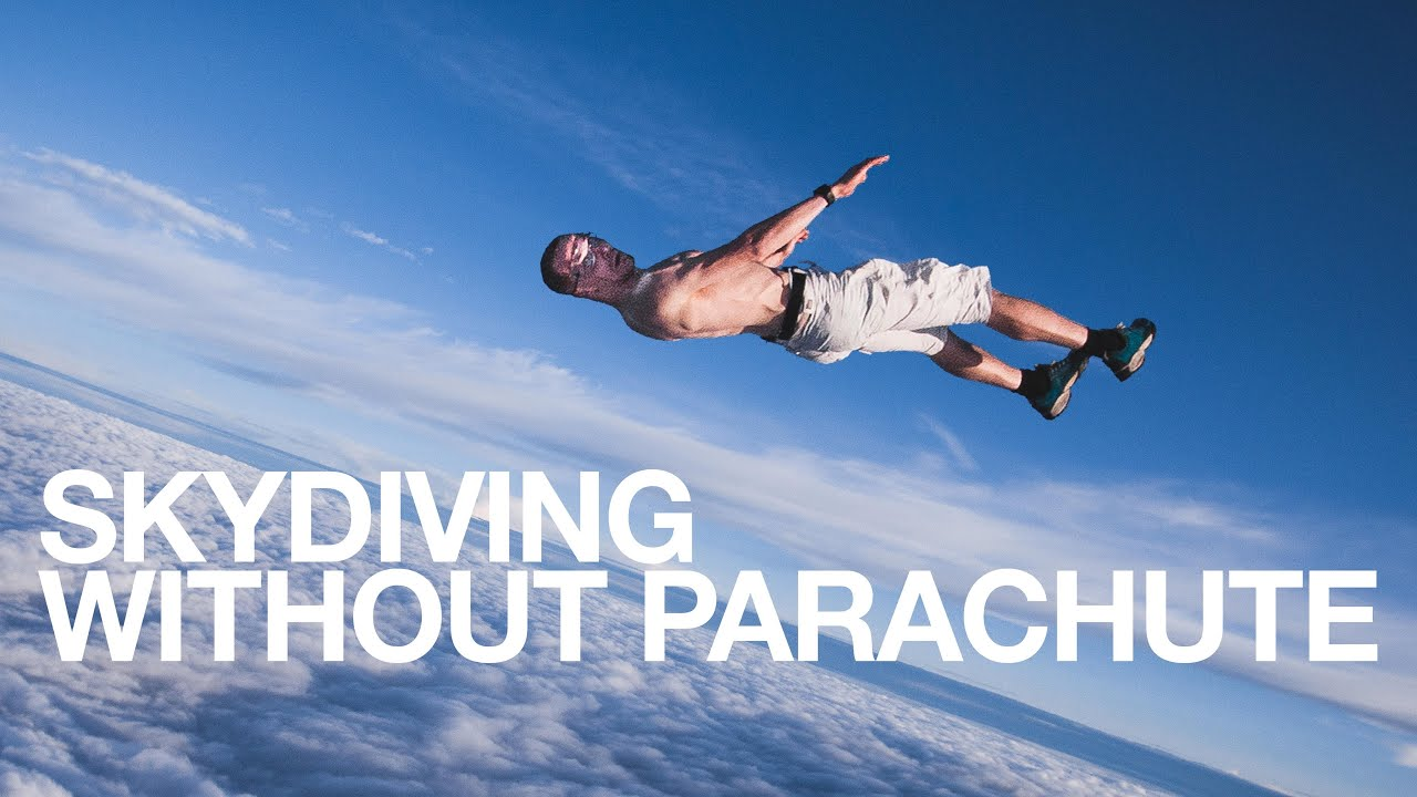 Girl Falling Through The Air Wallpaper Skydiving Without Parachute Antti Pendikainen Youtube