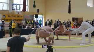 Final SUMO OPEN Category 107 kg vs 240 kg, Michał Luto vs Alan Karaev UKS Niedźwiadek