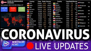 Coronavirus Live : Real Time Counter, World Map, Stats - #StayHome #WithMe