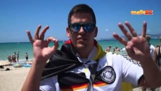 Stimmung am Ballermann vor dem WM Finale 2014 Deutschland   Argentinien