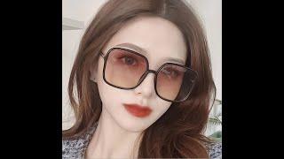 Женские большие солнцезащитные очки модные брендовые дизайнерские пластиковые очки в большой оправе