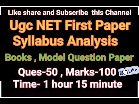 UGC NET [First paper] Syllabus Analysis ,Books,Model Que..How to preparation for NET
