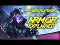 Cyberpunk 2077 - All Possible Armor Variations EXPLAINED